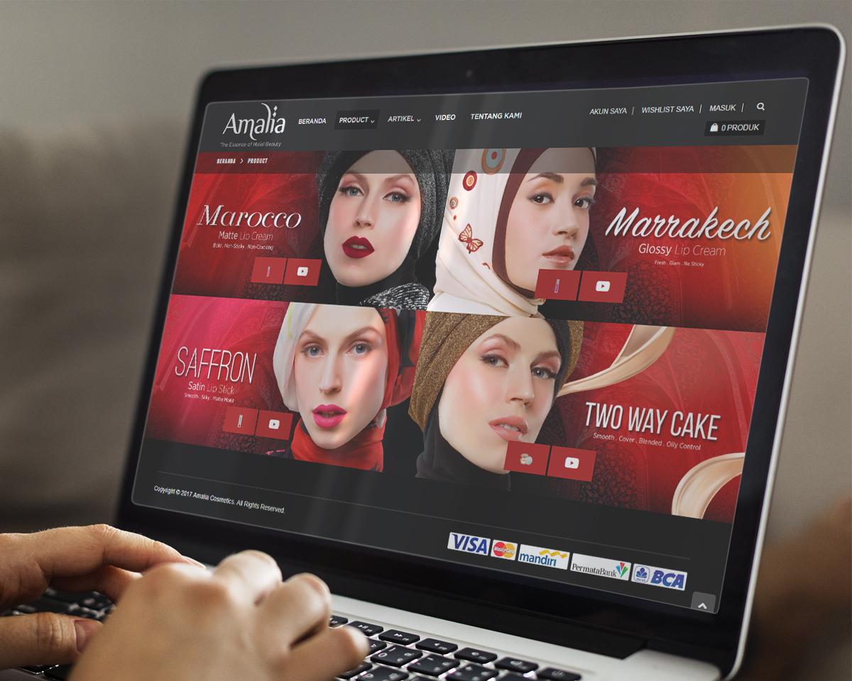 Amalia Cosmetics Ecommerce